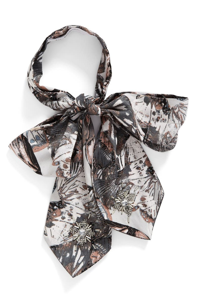 BCBG eneration Butterfly Bow Tie Scarf, Main, color, 013