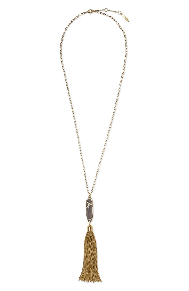 SOLE SOCIETY Tassel Pendant Necklace, Main, color, 710