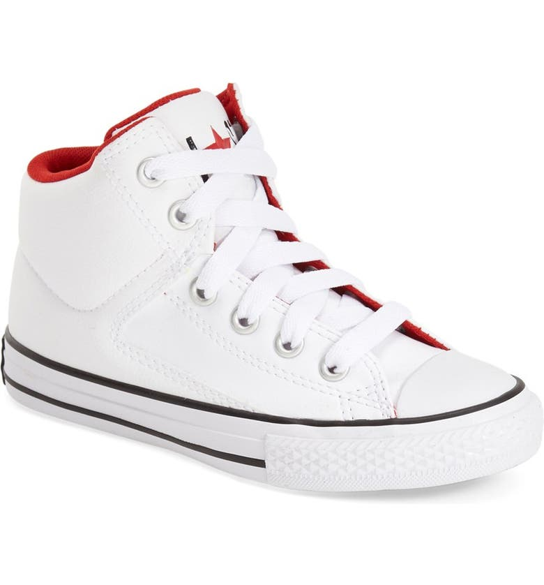 CONVERSE Chuck Taylor<sup>®</sup> All Star<sup>®</sup> 'High Street' High Top Sneaker, Main, color, 100