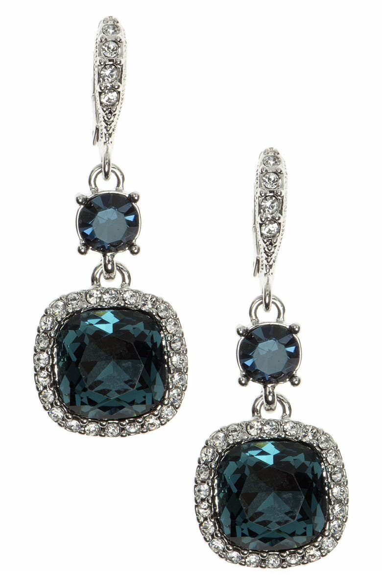 GIVENCHY Crystal Drop Earrings, Main, color, RHODIUM
