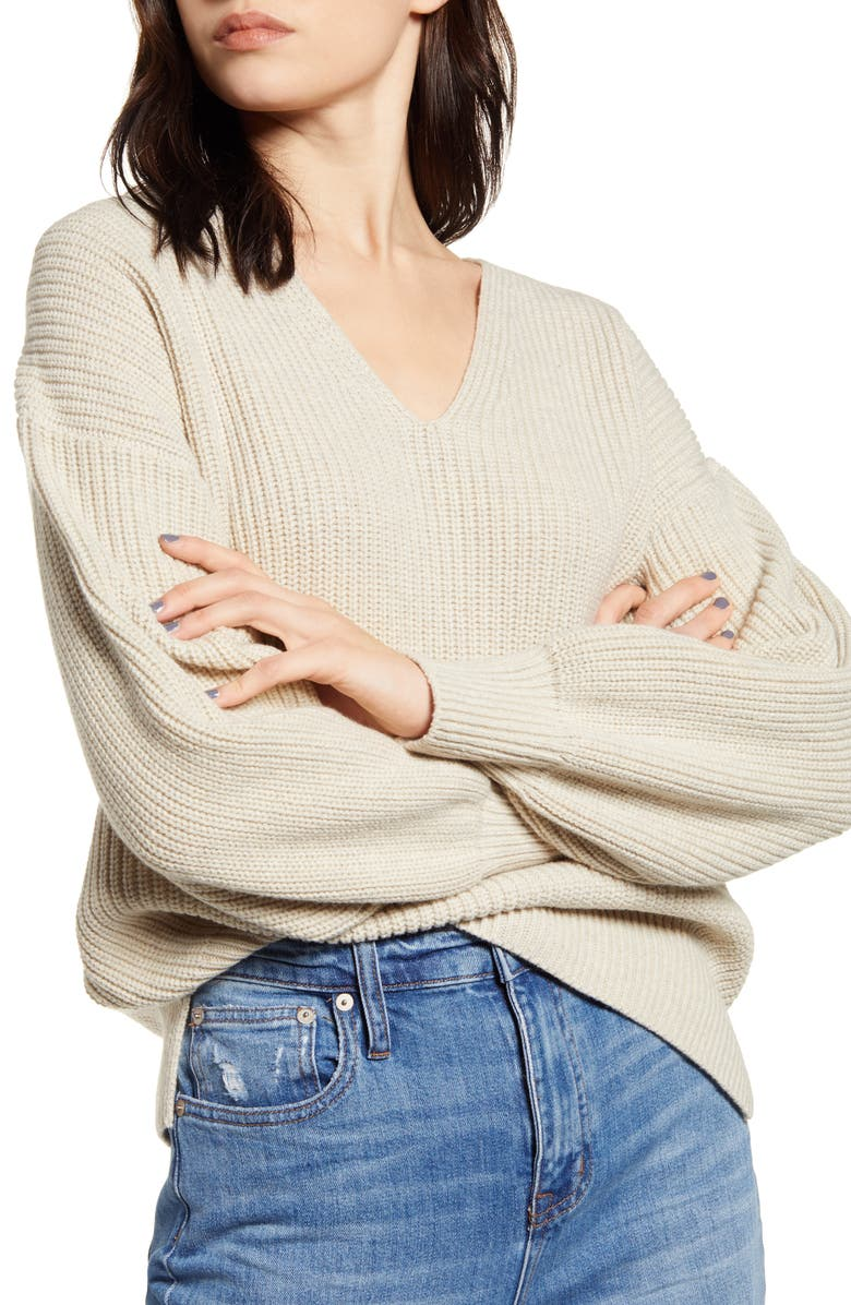MADEWELL Thornton Balloon Sleeve Sweater, Main, color, 020