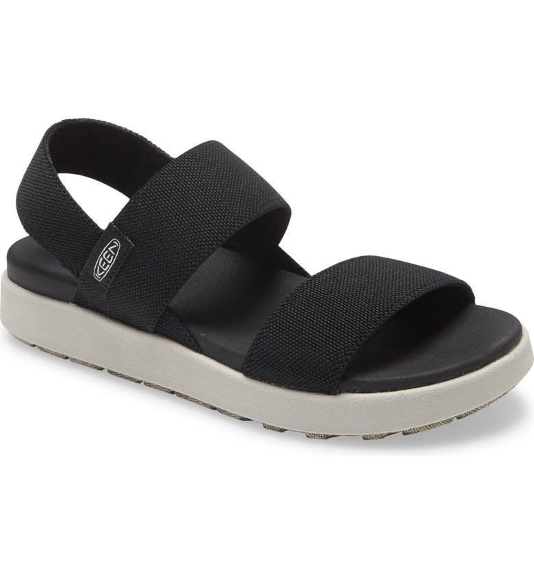 KEEN Elle Webbing Strap Sandal, Main, color, BLACK FABRIC