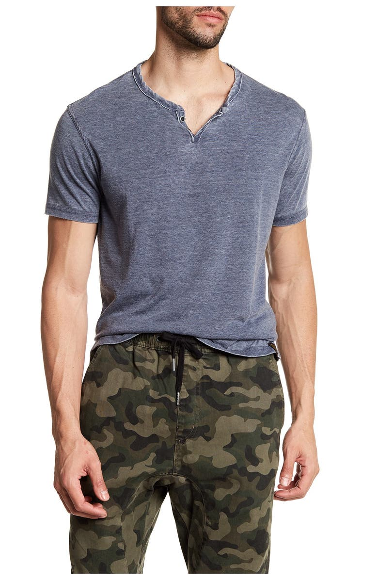 LUCKY BRAND Vintage Short Sleeve Henley, Main, color, AMERICAN NAVY