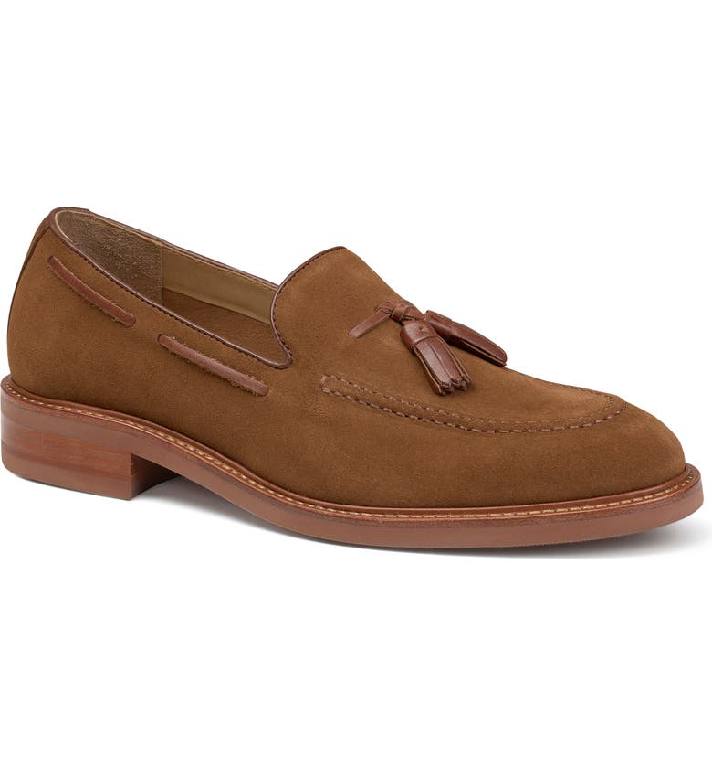 TRASK Lofland Tassel Loafer, Main, color, SNUFF SUEDE