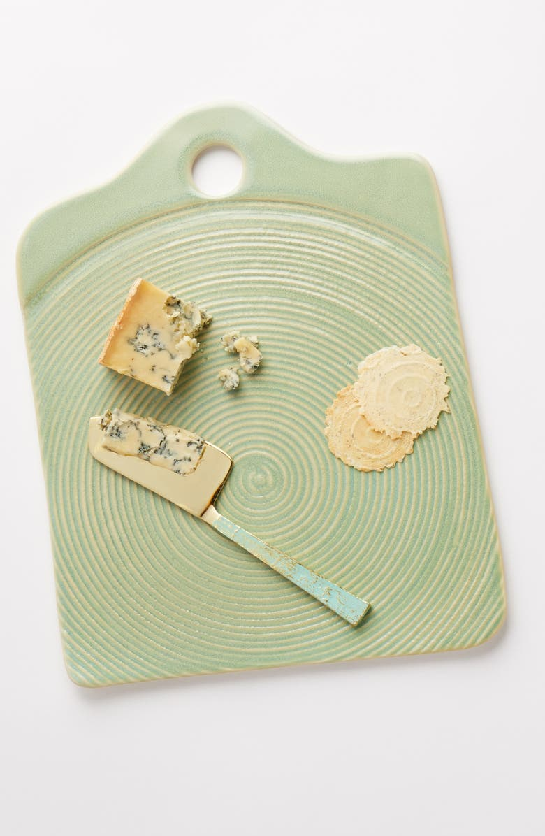 ANTHROPOLOGIE HOME Swirl Cheese Board, Main, color, GREEN