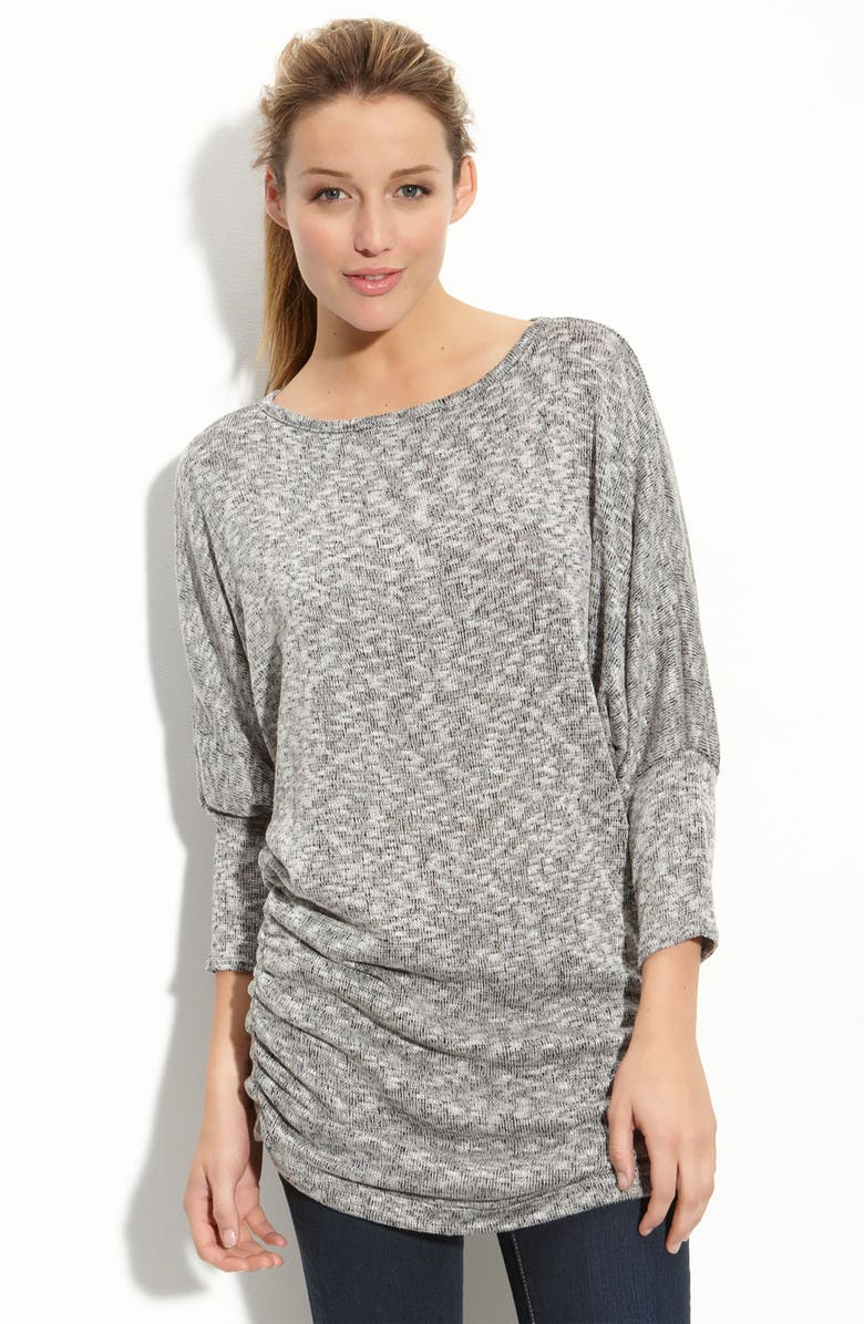 EMILY BLU Ruched Sweater, Main, color, Black