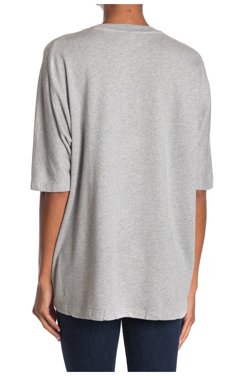 ZADIG AND VOLTAIRE Portland Amour Print T-Shirt, Main, color, GREY