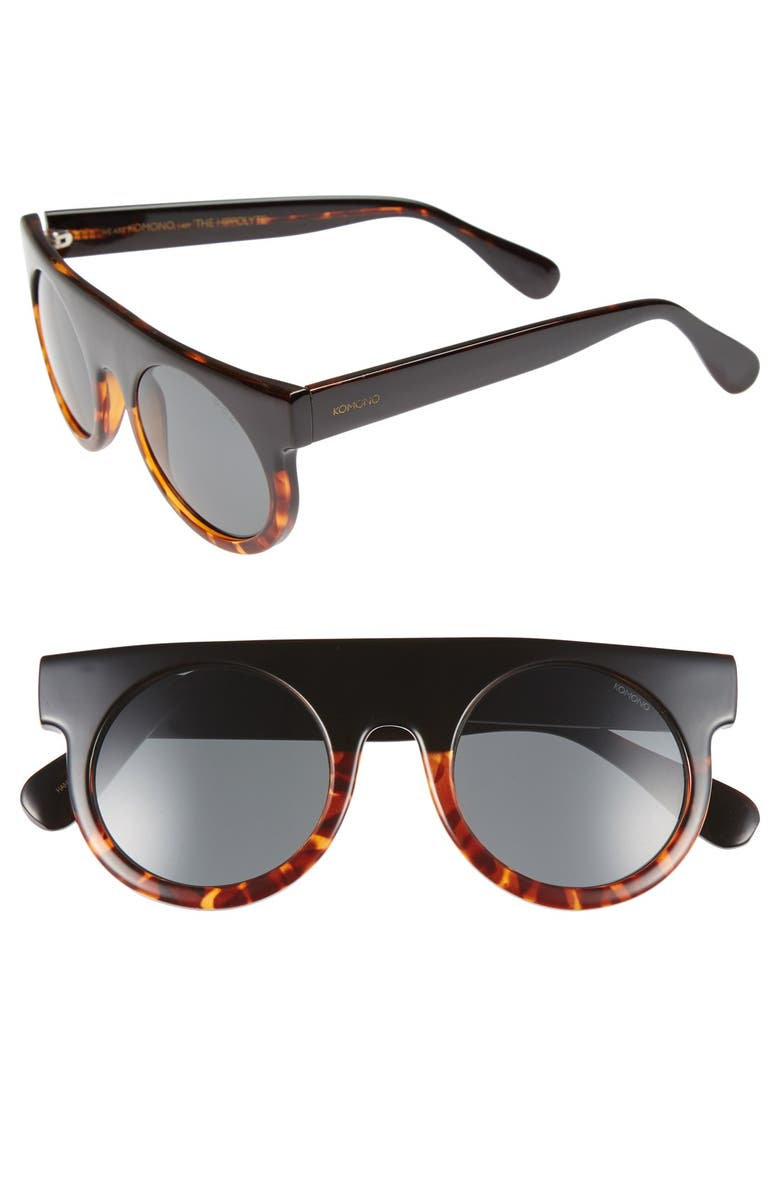 KOMONO 'Hippolyte' Shield Sunglasses, Main, color, 010