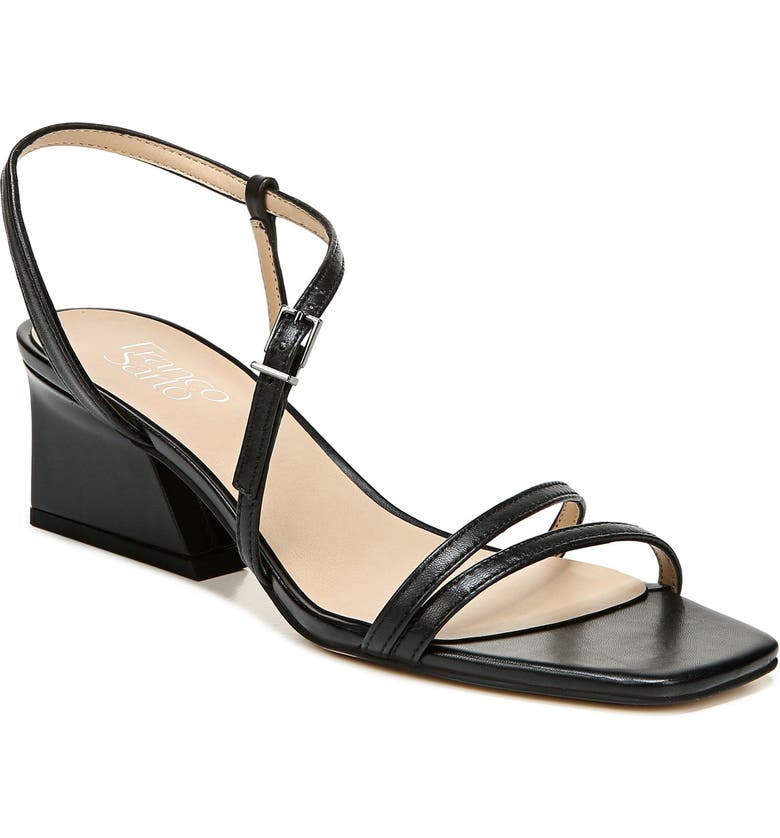 FRANCO SARTO Chania Sandal, Main, color, BLACK LEATHER