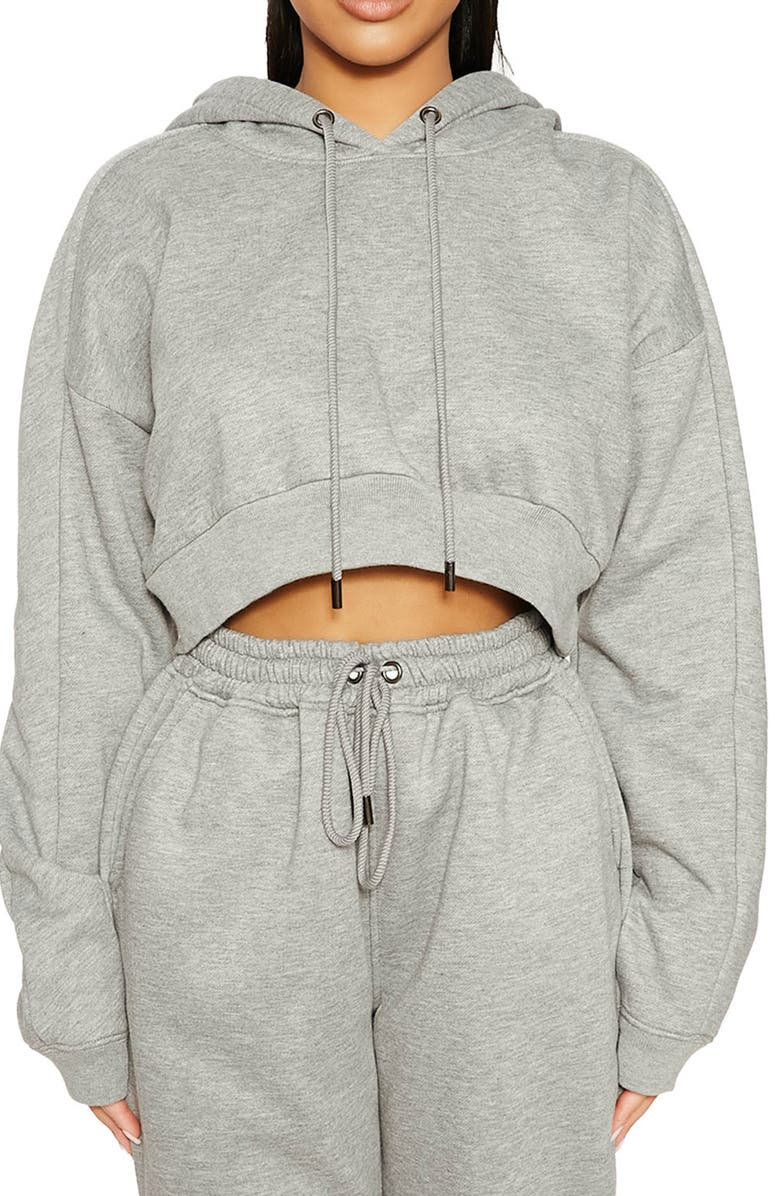 NAKED WARDROBE All Good In The Hoodie, Main, color, HEATHER GREY