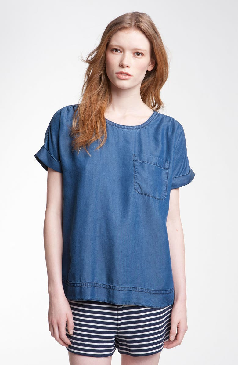 MARC BY MARC JACOBS 'Laurel' Chambray Tee, Main, color, INDIGO