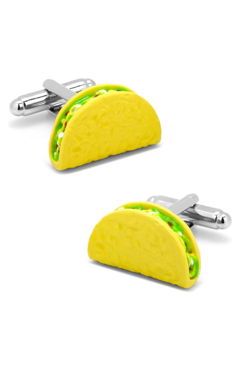 CUFFLINKS, INC. Taco Cuff Links, Main, color, Yellow