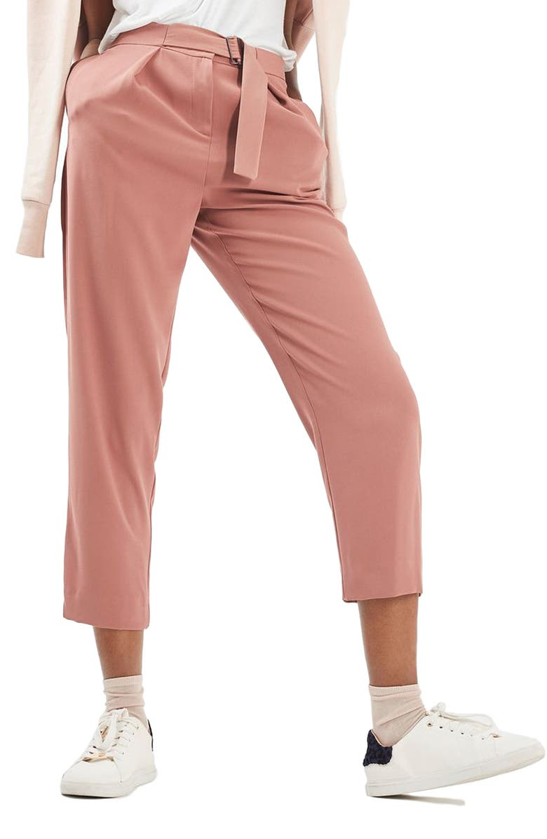 TOPSHOP Utility Belt Peg Trousers, Main, color, 650