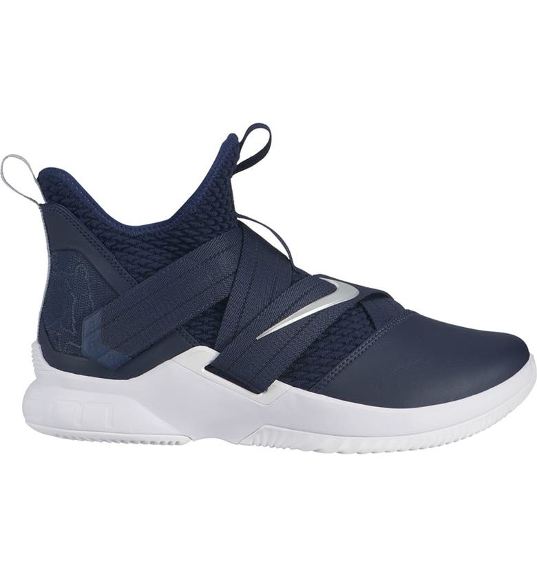NIKE LeBron Soldier XII TB Basketball Sneaker, Main, color, 406 COLLEGE NAVY