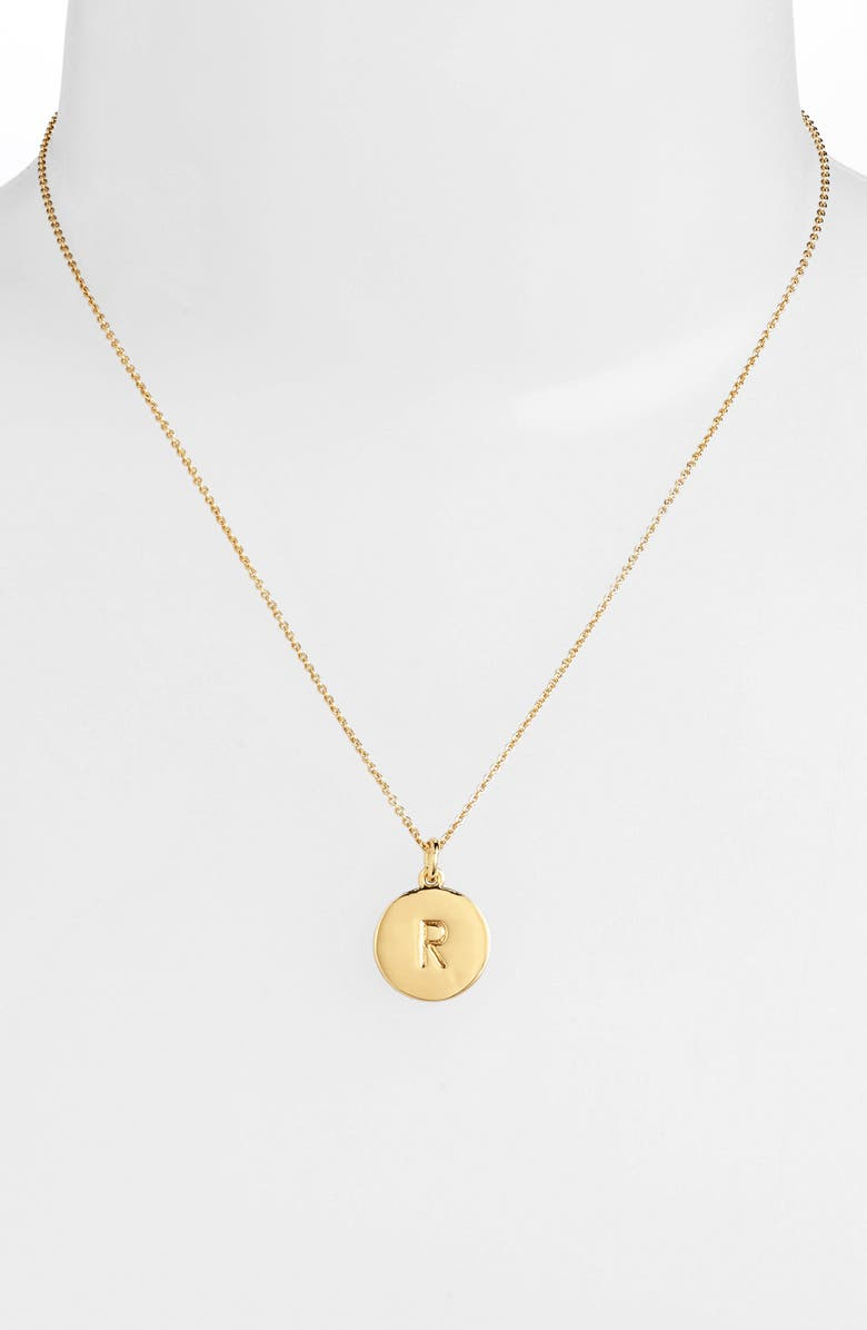 KATE SPADE NEW YORK one in a million initial pendant necklace, Main, color, 727