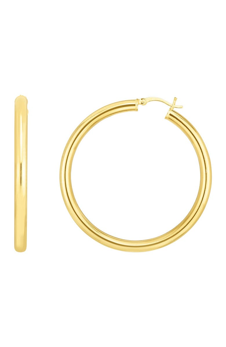 SPHERA MILANO 14K Yellow Gold Plated Sterling Silver 44mm Hoop Earrings, Main, color, YELLOW GOLD