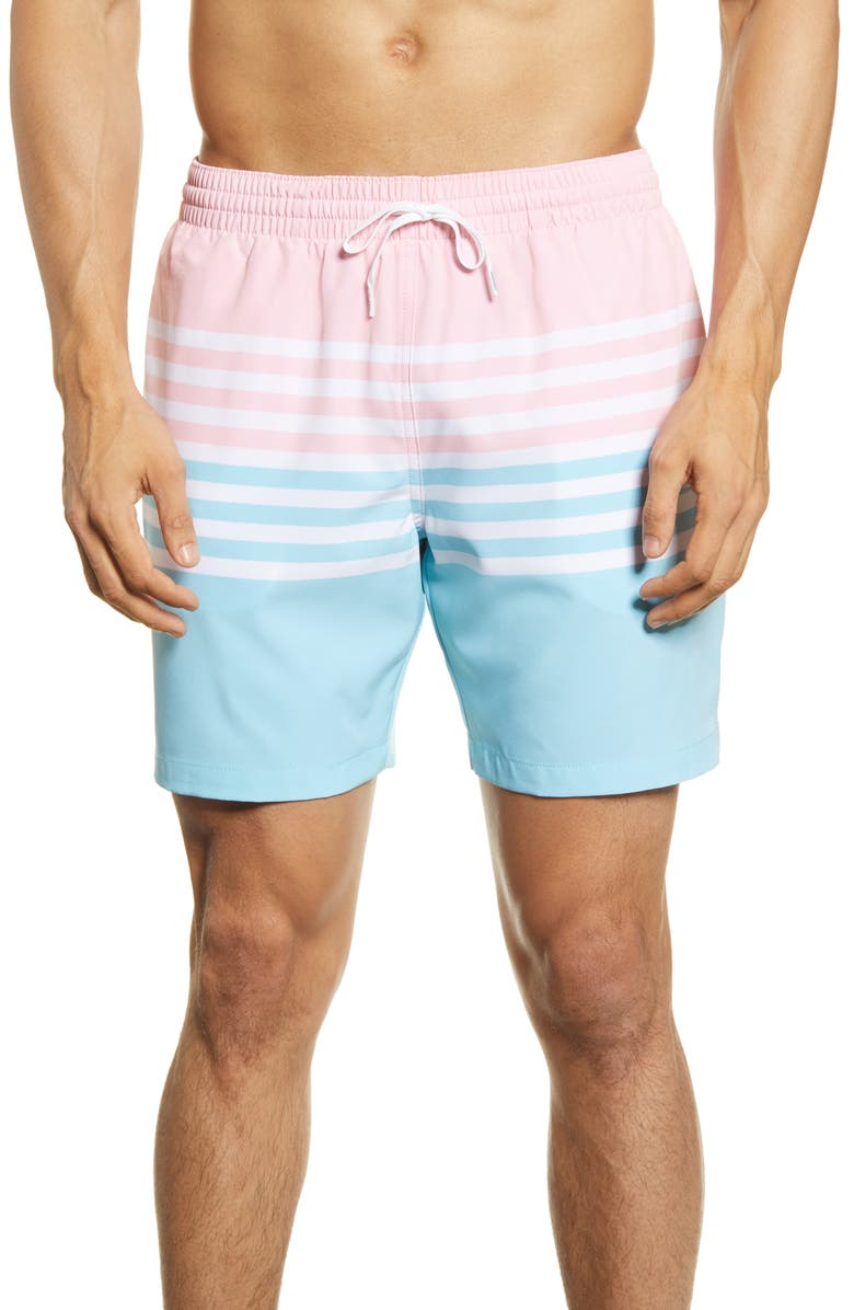 CHUBBIES On The Horizon 7-Inch Swim Trunks, Main, color, PINK