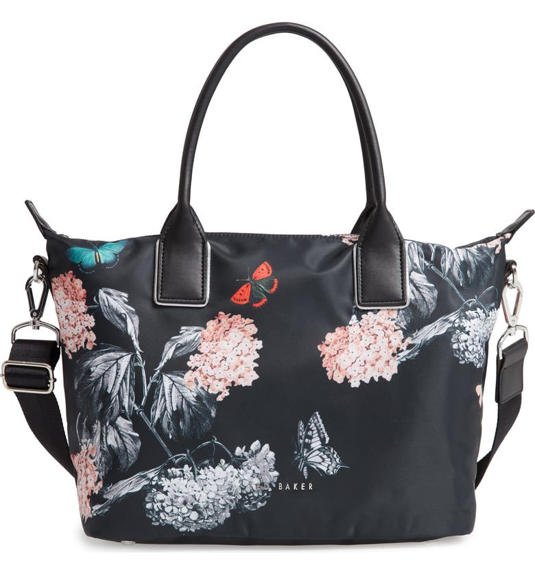 TED BAKER LONDON Small Margey Narrnia Print Tote, Main, color, 001
