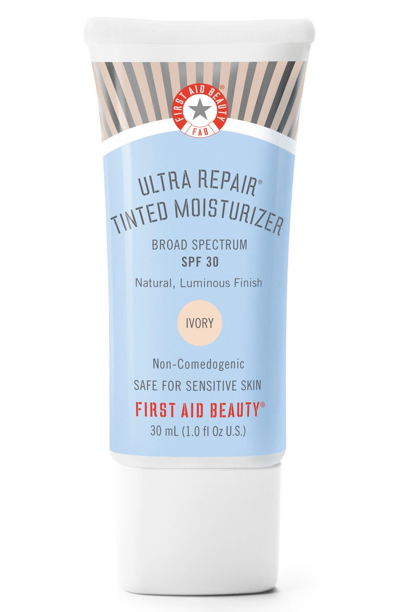 FIRST AID BEAUTY Ultra Repair Tinted Moisturizer Broad Spectrum SPF 30, Main, color, IVORY