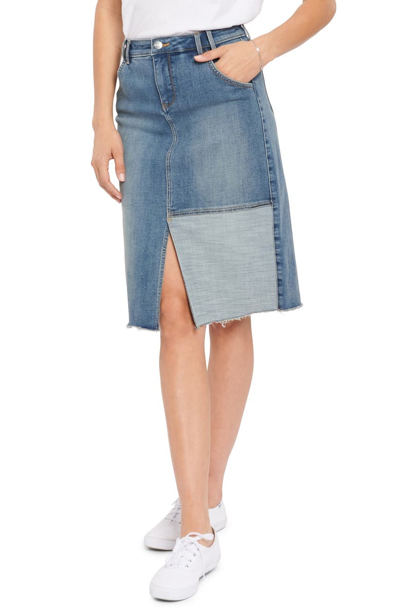 NYDJ Denim Midi Skirt, Main, color, CLEAN SELINE