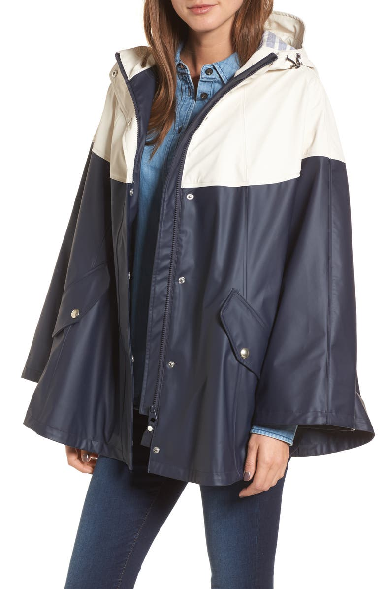 JOULES Right as Rain Waterproof Cape, Main, color, MARINE NAVY