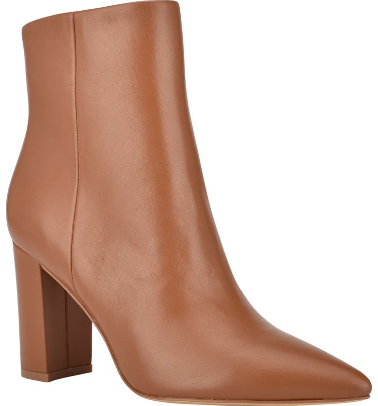 MARC FISHER LTD Ulani Pointy Toe Bootie, Main, color, NEW LUGGAGE LEATHER
