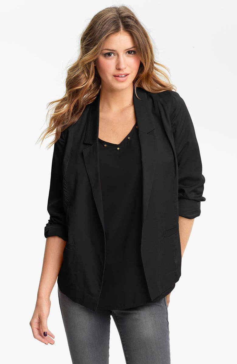 FRENCHI <sup>®</sup> Open Front Slouchy Blazer, Main, color, 002