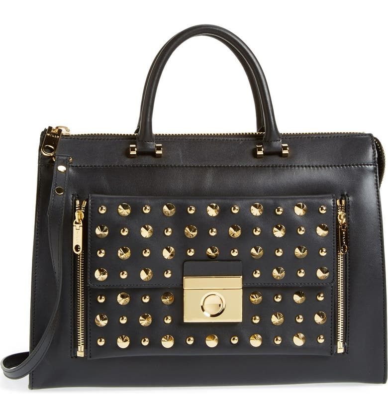 MILLY ' Sienna - Studs' Two-in-One Tote, Main, color, 001
