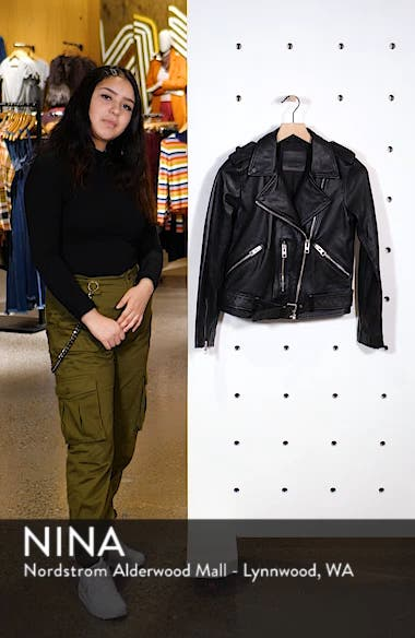 Balfern Leather Biker Jacket, sales video thumbnail