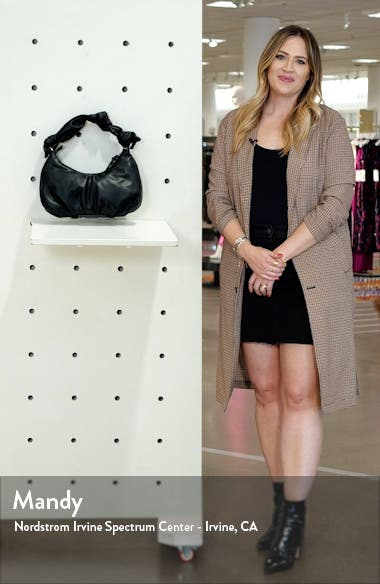 Knotted Half Moon Faux Leather Shoulder Bag, sales video thumbnail