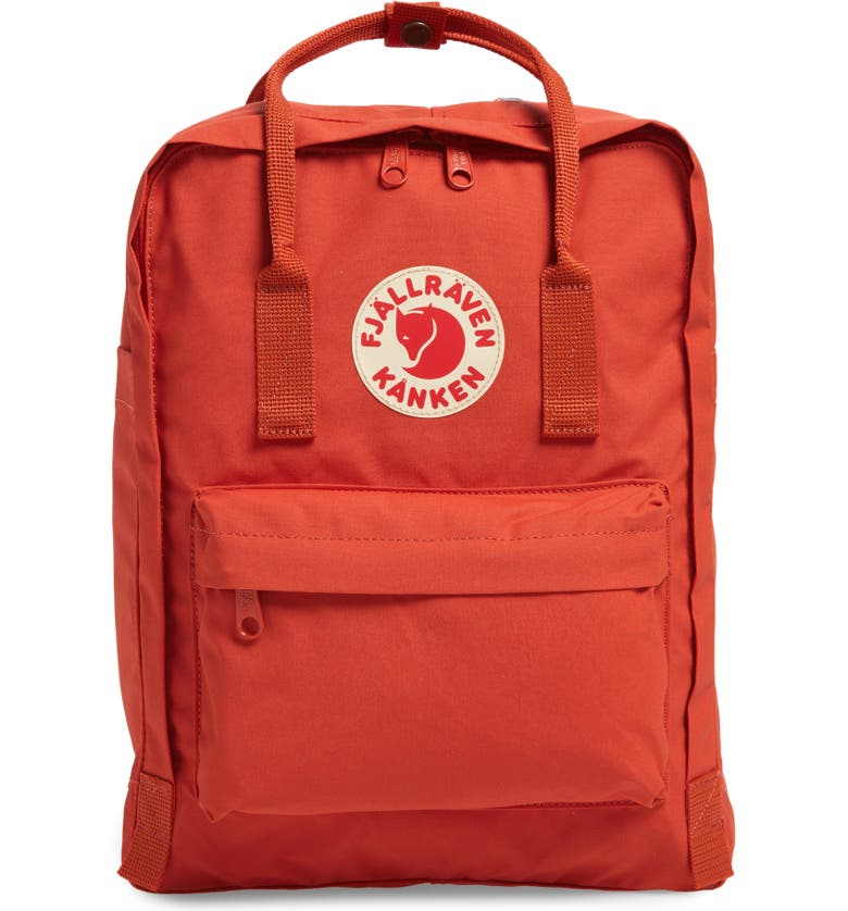 FJÄLLRÄVEN Kånken Water Resistant Backpack, Main, color, ROWAN RED