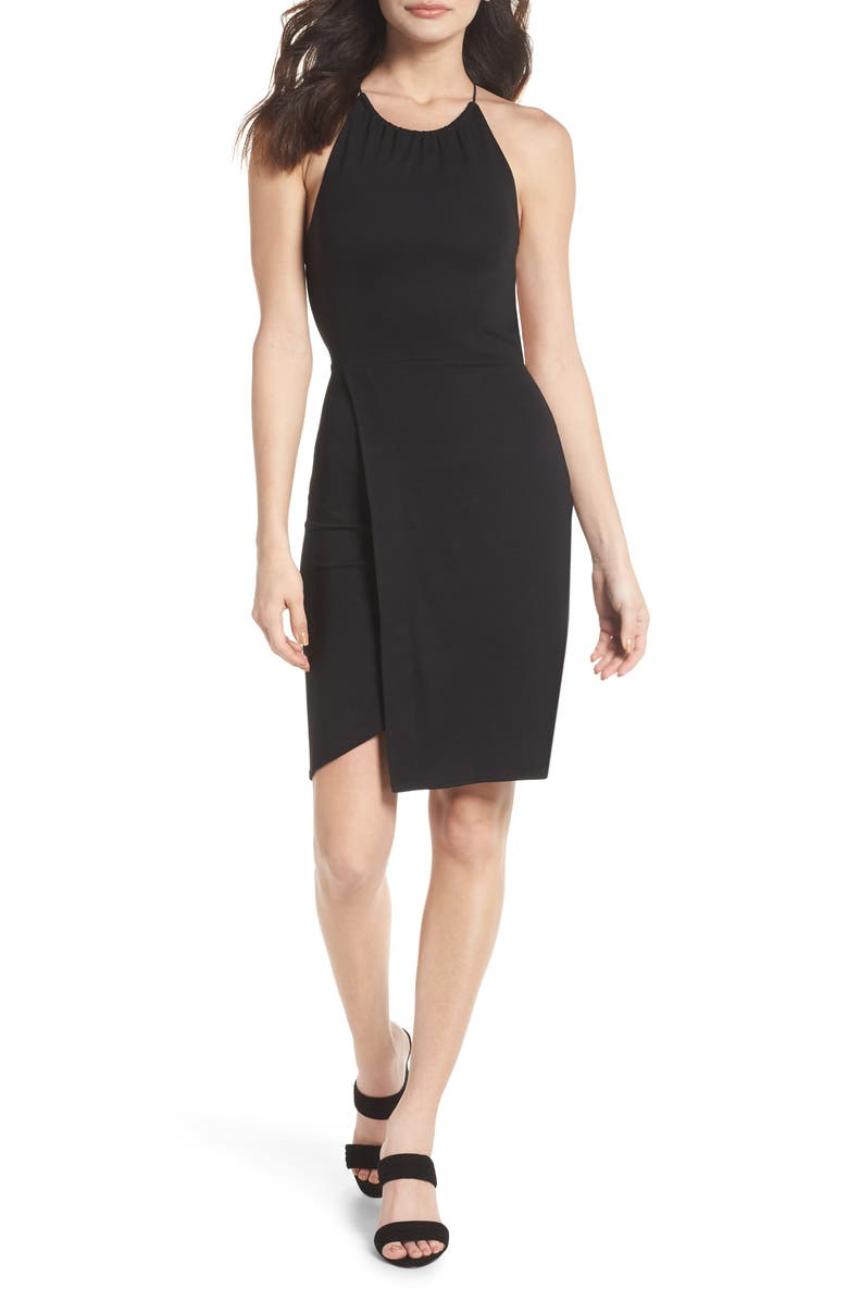 FRENCH CONNECTION Santorini Strappy Back Jersey Dress, Main, color, 001