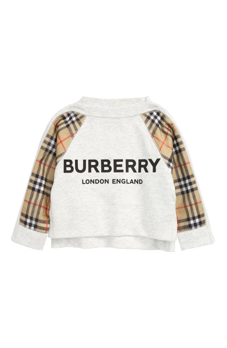 BURBERRY Esther Embroidered Sweatshirt, Main, color, 100