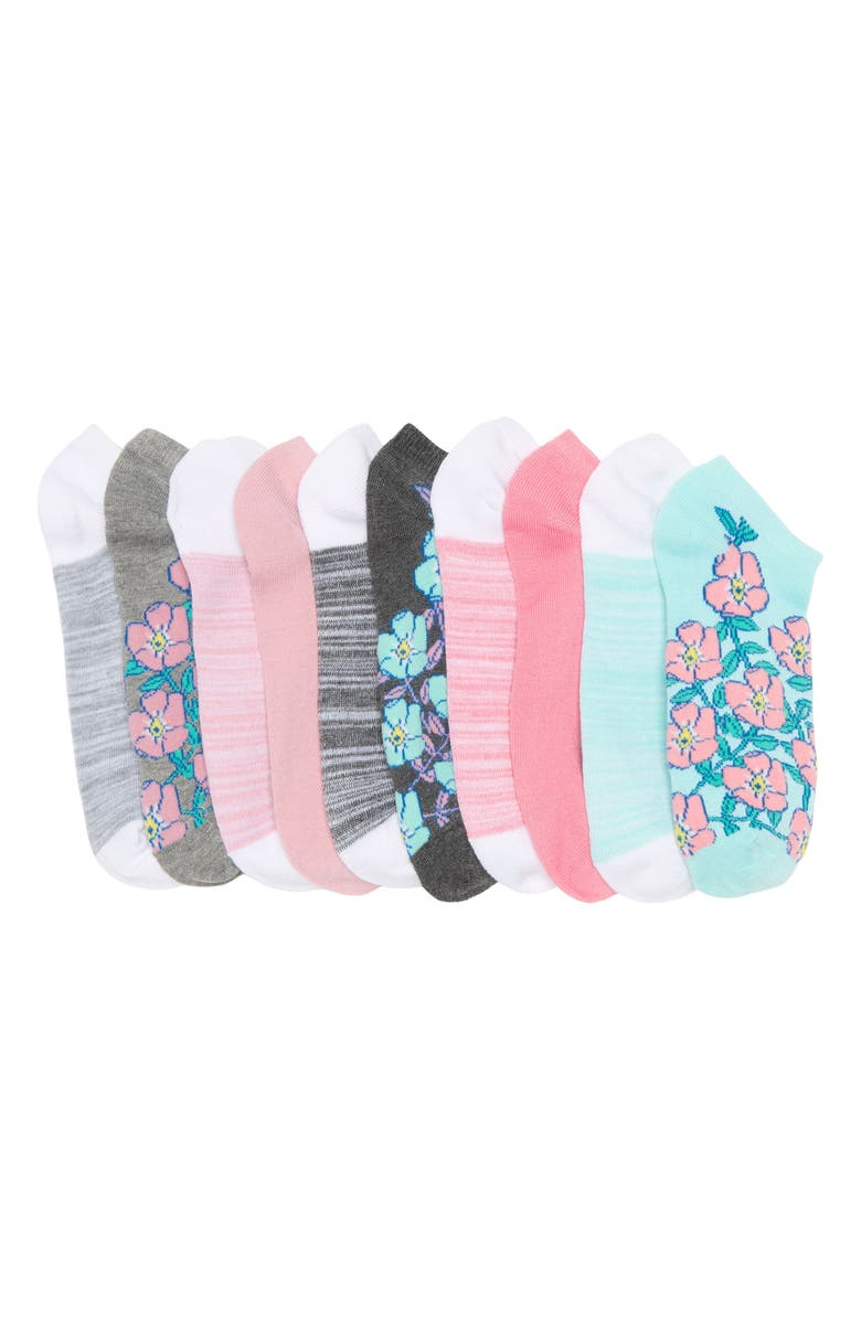 JESSICA SIMPSON Fashion Low Cut No-Show Socks - Pack of 10, Main, color, MINT