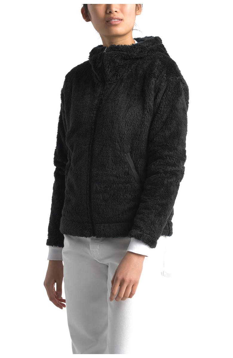 THE NORTH FACE Furry Fleece Hooded Jacket, Main, color, 001