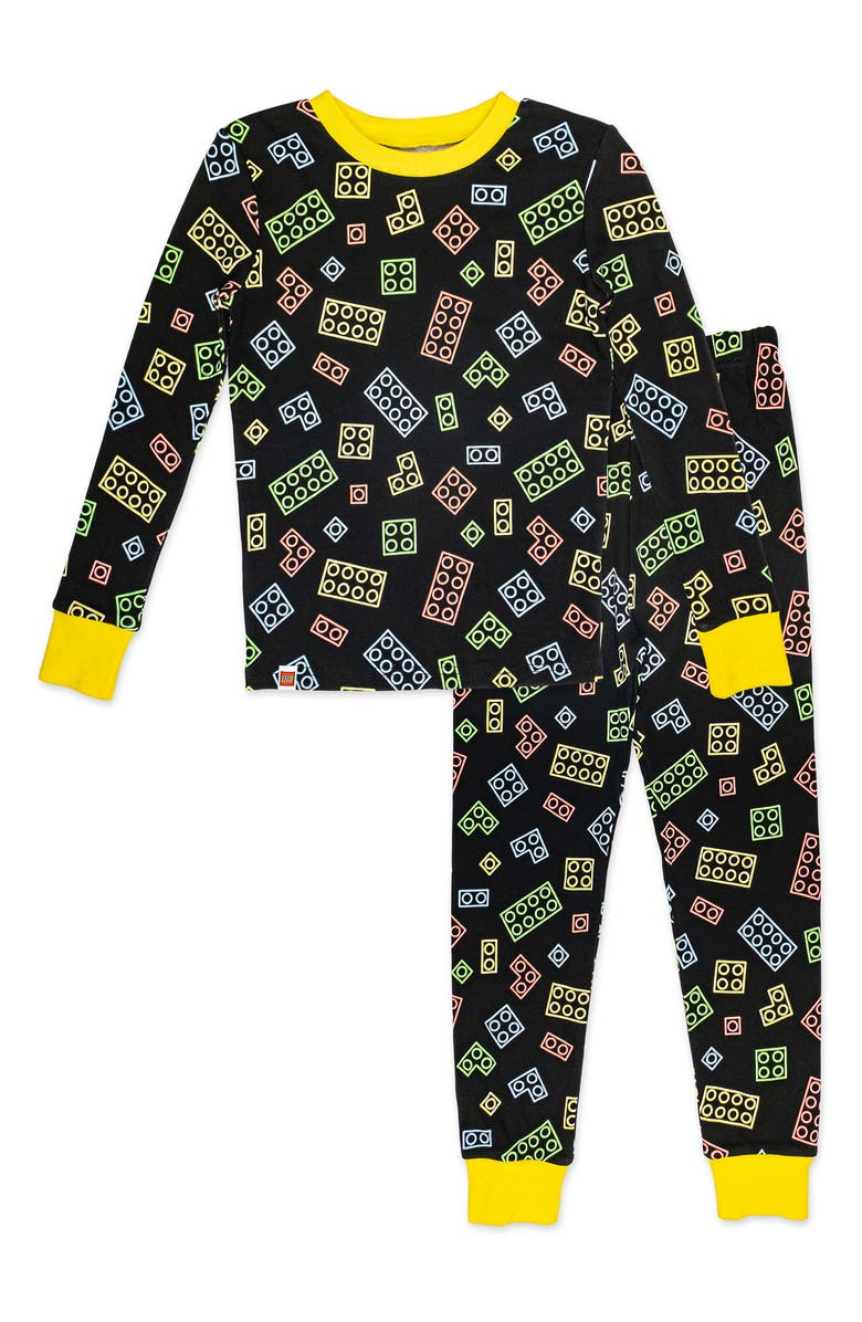 SGI APPAREL Kids' Lego Neon Fitted Two-Piece Pajamas, Main, color, 019