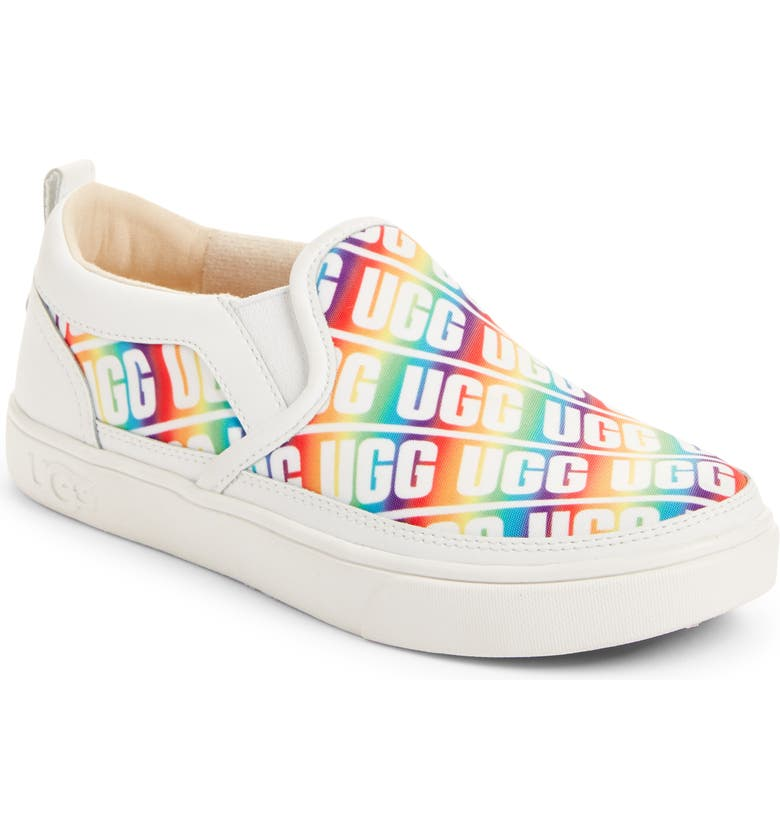 UGG<SUP>®</SUP> Caplan Logo Slip-On Sneaker, Main, color, RAINBOW