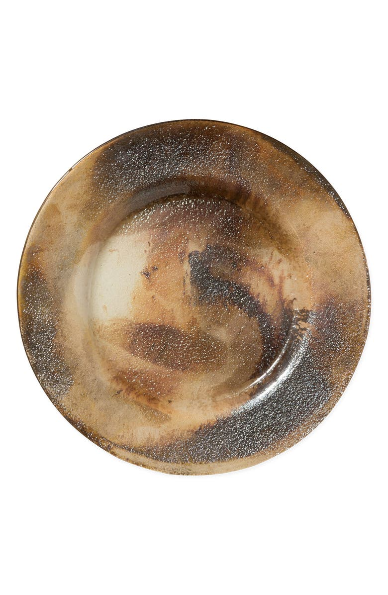 VIETRI Earth Glass Rimmed Charger Plate, Main, color, 205