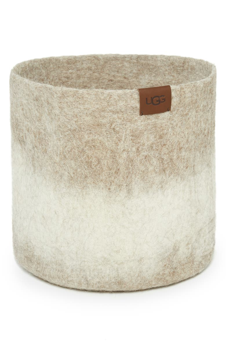 UGG<SUP>®</SUP> Vista Mar Felted Wool Basket, Main, color, 250