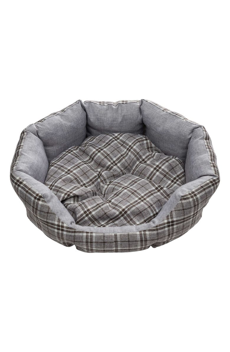 DUCK RIVER TEXTILE Harlee Round Pet Bed, Main, color, GREY