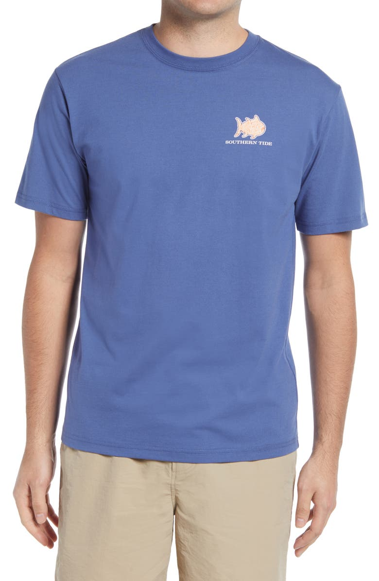 SOUTHERN TIDE Verdure Graphic Tee, Main, color, OCEAN CHANNEL