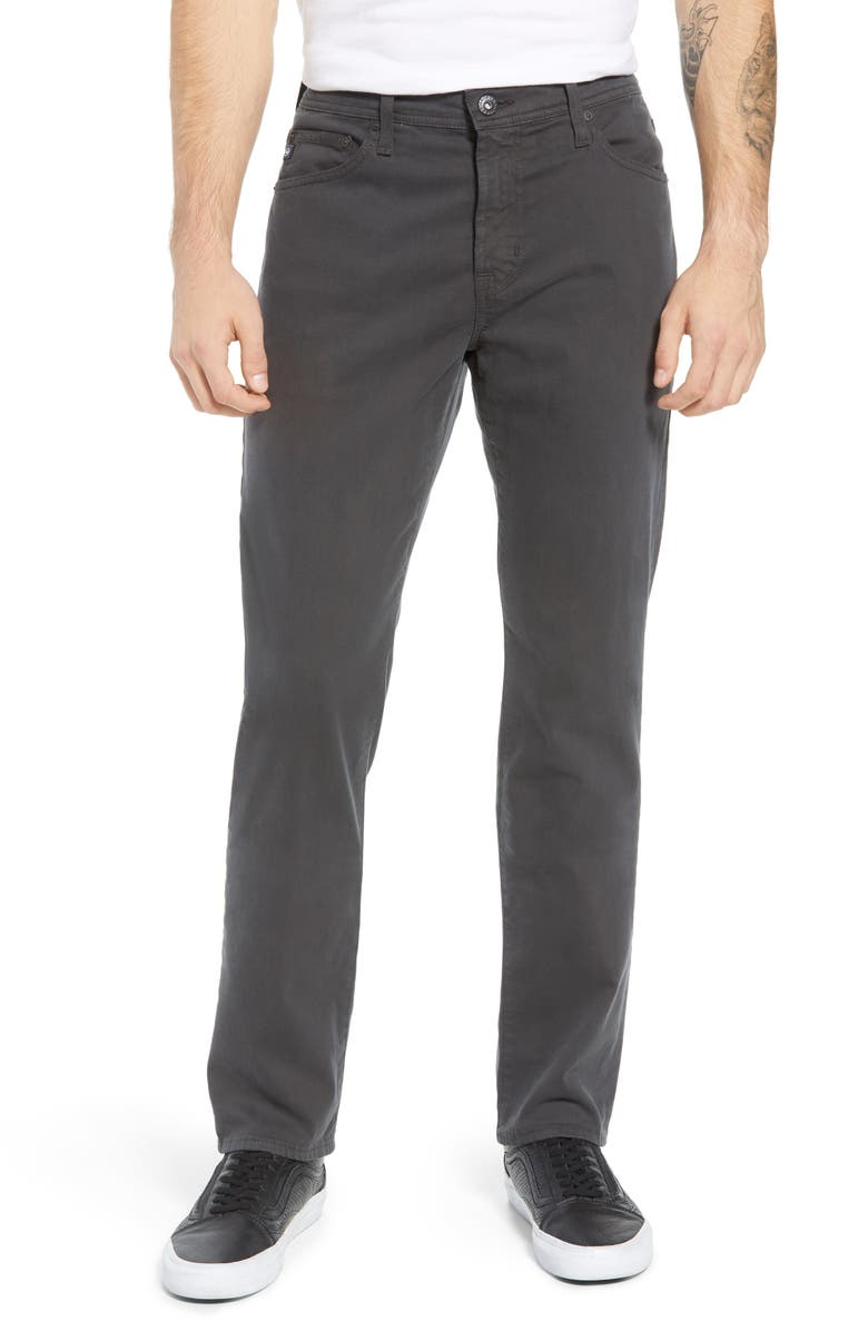 AG Everett SUD Slim Straight Fit Pants, Main, color, DARK ROCK