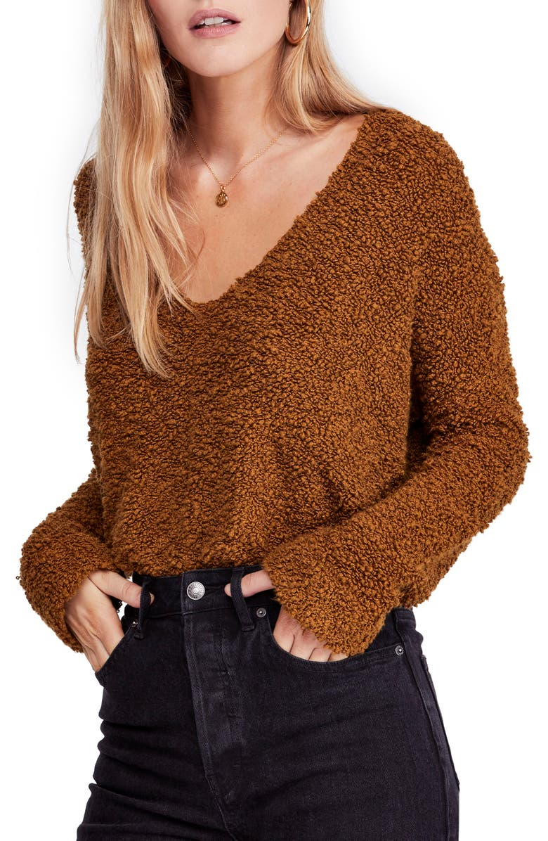 FREE PEOPLE Popcorn Crop Sweater, Main, color, 200