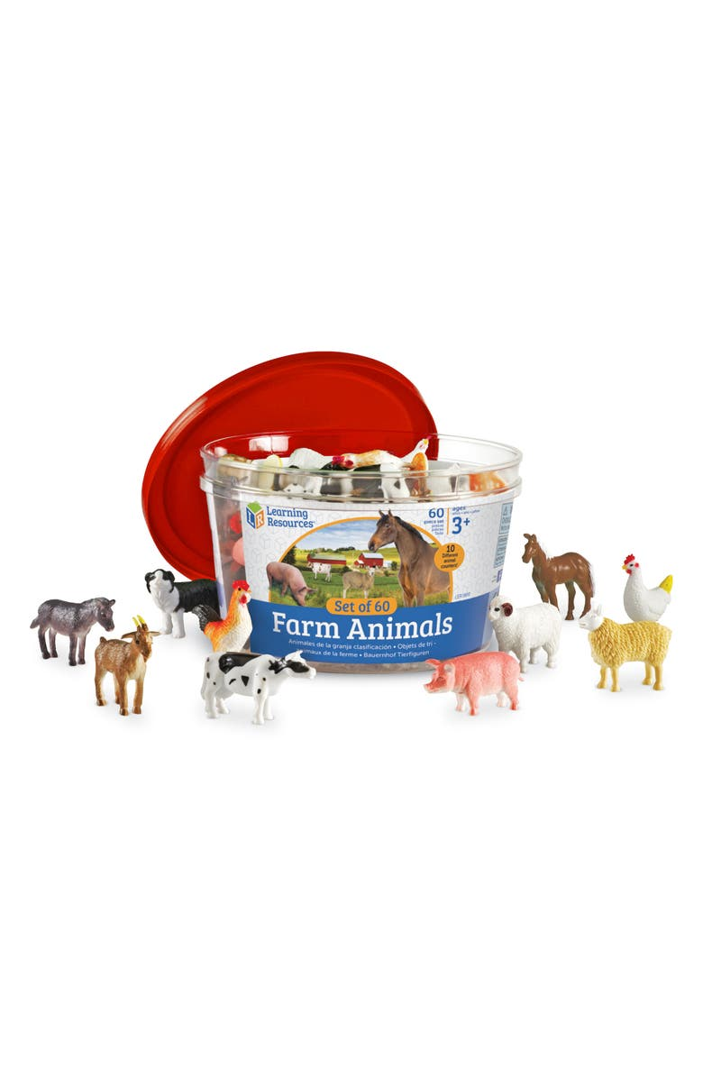 LEARNING RESOURCES Farm Animal Counter Set, Main, color, 960