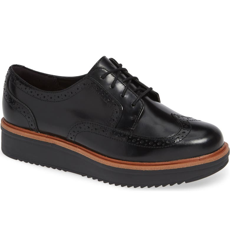 CLARKS<SUP>®</SUP> Teadale Maira Wingtip Derby, Main, color, 003