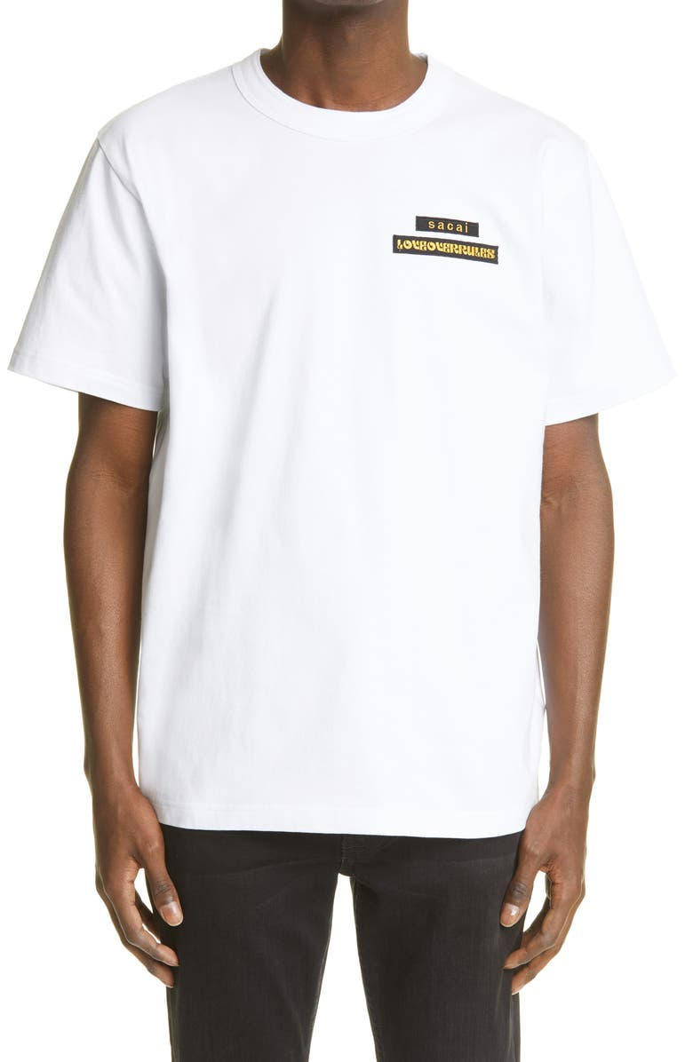 SACAI Men's Hank Willis Thomas Graphic Tee, Main, color, White