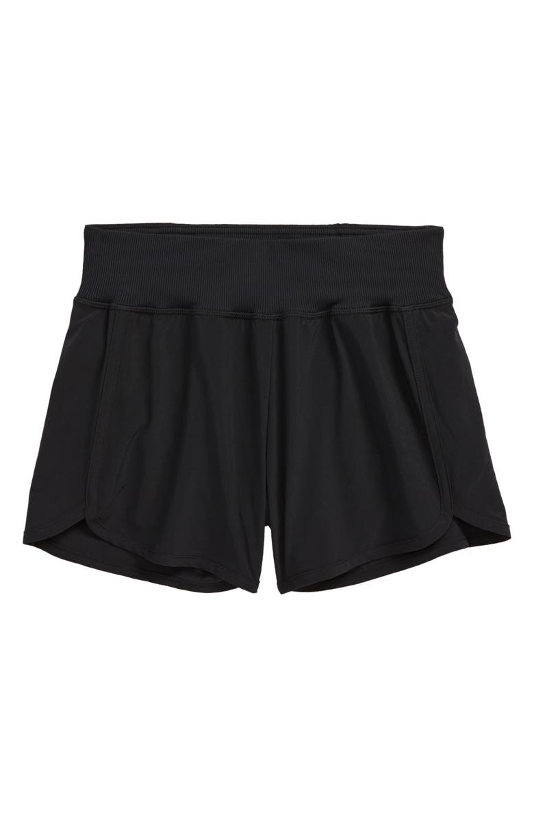 ZELLA GIRL Kids' Aero Shorts, Main, color, BLACK