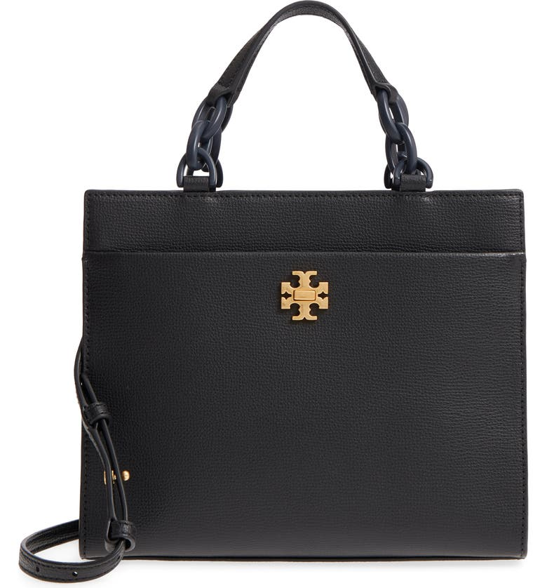 TORY BURCH Kira Small Leather Tote, Main, color, 001
