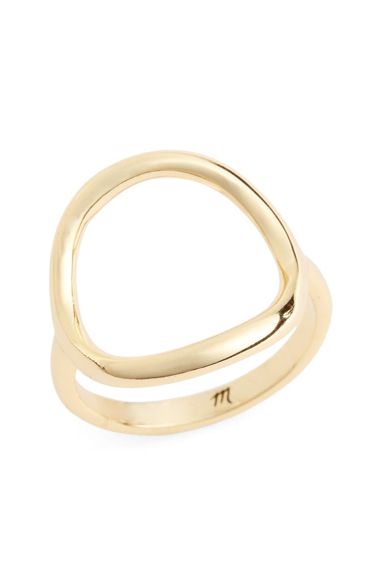 MADEWELL Ceremony Circle Ring, Main, color, SHINY BRASS