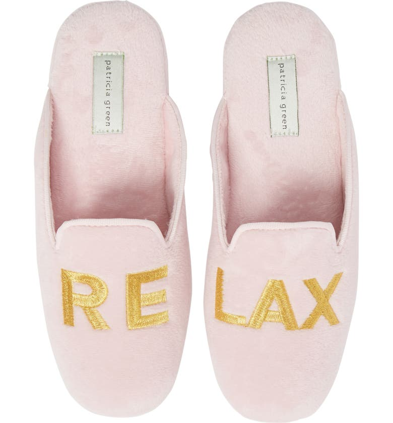 PATRICIA GREEN Relax Embroidered Mule Slipper, Main, color, PINK FABRIC